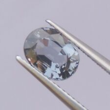 1.66ct blue gray spinel natural gemstones oval shape good quality 100%new rare