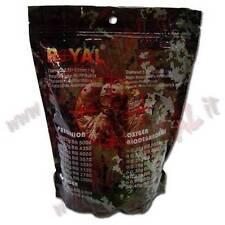 PALLINI BUSTA ROYAL PRECISION 1Kg 4350 Pz BB 0.23 Gr PLASTICA 6mm SOFTAIR BUSTE