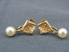 schöne Ohrringe 750/-Gold Perlen Schweden