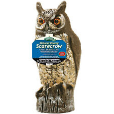 NATURAL ENEMY OWL SCARECROW Great Horned Yard Garden Bird Pest Repel Control