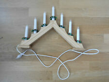 Schwibbogen Holz elektrisch Advent Weihnachten Leuchterbrücke Kerzenbrücke #744