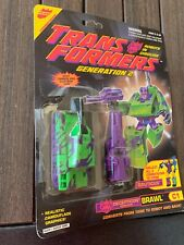Transformers G2 Brawl Action Figures 100%Complete With Card/bubble