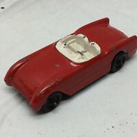 Vintage Tootsietoy Toy Car Chevrolet Corvette Metal Red