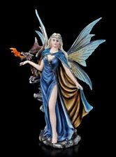 Elves Figurine with Dragon - Warden Des Feuers - Fantasy Fairy Angel