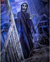 5.4 Ft The Hauntress Animatronic Halloween Decoration Prop Haunted Animated