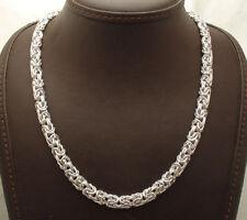 "18"" Technibond Byzantine Chain Necklace Anti-Tarnish Real 925 Sterling Silver"