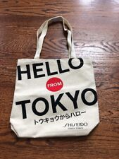 """Hello from Tokyo Cotton Canvas Tote Bag 13""""x13.5""""x3"""" <New>"""