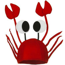 Adult Kids Felt Sea Crab Lobster Cap Hat Party Fancy Dress Costume Accessories