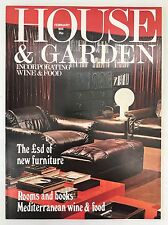 Vintage Feb 1974 House & Garden Magazine, Furniture, 70's Style, Food & Drink