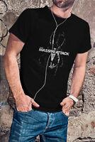 MASSIVE ATTACK ANGEL 98' Men Black T-Shirt Trip Hop Tee Shirt
