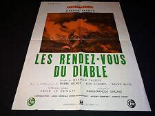 LES RENDEZ-VOUS DU DIABLE haroun tazieff  rare affiche cinema volcan1956