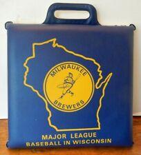 Vintage Old Milwaukee Brewers Barrelman Logo Major League Baseball Seat Cushion*