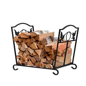 Traderight Firewood Rack Fireplace Tool Storage Foldable Log Wood Leave Design