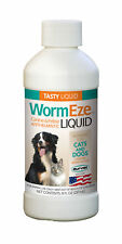 WormEze Piperazine Liquid Wormer Dog Puppies Cat & Kitten Worm Remover 8oz