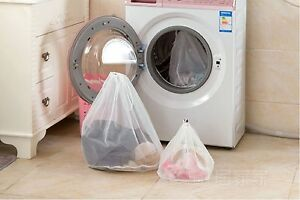 Clothes hosiery bra washing protecting mesh laundry Zipped bag organiser x 3