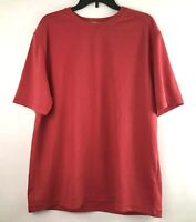 Woolrich Mens Size XL Crew Neck Riverside Short Sleeve Tee Shirt Guava Red
