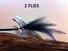 Deceiver/Clouser Fly Black 2 Flies Mustad34007,redfish,snook ,tarpon,striper,pike