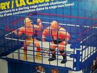 K1600162 CAGE MATCH WWF RING ACCESSORY 100% COMPLETE W/ BOX WRESTLING SUPERSTARS