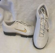 Nike Men's Golf Shoe Air Vapor II Size 9 Marked Sample White with Gold