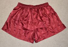 PM SATIN SPRINTER SHORTS POLYESTER SHINY RETRO OLDSCHOOL VINTAGE 80s 90s size L