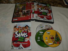 The Sims 2 Holiday Edition (PC, 2005) Replacement disks -only disks 2-4