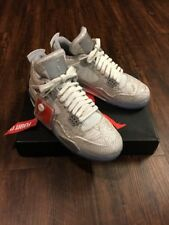Nike Mens Air Jordan 4 Retro 'Laser' Reflective White/Chrome 705333-105 Sz 9 New