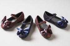 Girls Toddler/Little Kid Bow Mary Jane Ballerina Flat Dress Shoes (Brown, Navy)