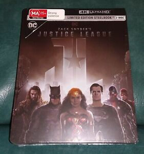 NEW DC ZACK SNYDER'S JUSTICE LEAGUE LIMITED EDITION STEELBOOK 4K ULTRA HD