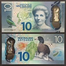 2015 NEW ZEALAND 10 DOLLARS POLYMER P-192 UNC > KATE SHEPPARD WHIO