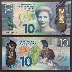 2015 NEW ZEALAND 10 DOLLARS POLYMER P-192 UNC> > >KATE SHEPPARD WHIO KIOKIO FERN