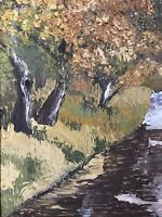 """Impressionist Oil Painting On Board Landscape 18""""x14"""""""