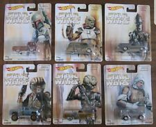 Hot Wheels Pop Culture 2017 Star Wars *bounty hunter* Set of 6 Real Riders NEW!