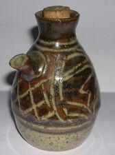 Studio Stoneware Pottery - Attractive Oil Jug / Pourer - Original Stopper.Unused
