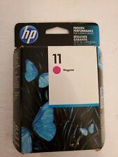 HP 11 Magenta ink cartridge C4837A Expired 10/ 2017 Genuine New Sealed Box