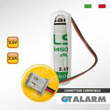 Batteria Litio SAFT LS14500 3,6V 2,6Ah compatibile GT ALARM codice: GT130014