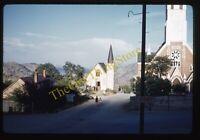 Virginia City Nevada Street Scene View 1950s 35mm Slide Kodachrome Vtg Church