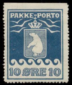 GREENLAND #Q4a (P3B) 10ore Pakke Porto, 1905, LH, nibbed perfs, Scott $750.00