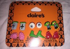 "Six Pair Of Claire's Very Cute Scary Stud Earrings ""cute"""