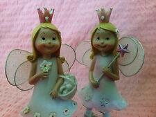Ballerina Princess Fairy Decorative Ornament Figurine Statue Garden (set of 2)