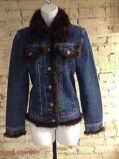 Jean Crisan Fourrure Denim Jacket Small Beaver Trim Canada