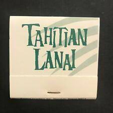 Tahitian Lanai Island Exotic Cocktail Papeete Bar Unstruck  Matchbook Tiki