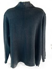 Tiger Woods Collection Mens Gray Xxl 1/4 Zip Long Sleeve Golf Sweater Pullover