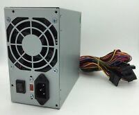 Grey 400 Watt Standard ATX Power Supply 20 24 Pin SATA Molex ATX12V 4 Pin Square