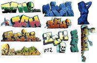 O SCALE GRAFFITI DECALS 072 FROM REAL GRAFFITI ICH ICHABOD