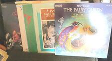 6 Lp LOT purcell fairy queen deller consort julian bream russell oberlin bach !!