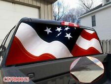 White Splice AMERICAN FLAG Rear Window Tint Graphic Decal Wrap Vinyl Sticker P13