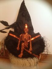Bethany Lowe Witch's Hat w/Glitter Skeleton--retired