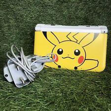 Pokemon Pikachu Nintendo 3DS XL Console + Charger Stylus 3dsxl Ds Official