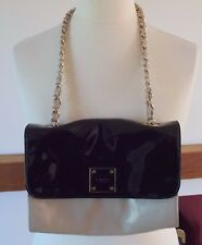 Jaeger nude and black patent shoulder bag with chain strap