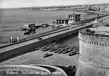 Cartolina - Postcard - Gallipoli - Panorama dall'alto - ponte secentesco - 1954